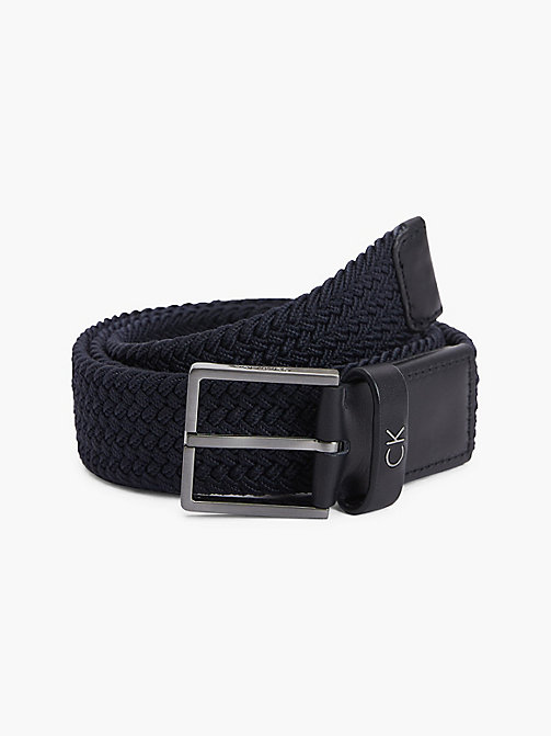 CALVIN KLEIN FORMAL ELASTIC BELT 3.5CM - NAVY - CALVIN KLEIN ALL GIFTS - main image
