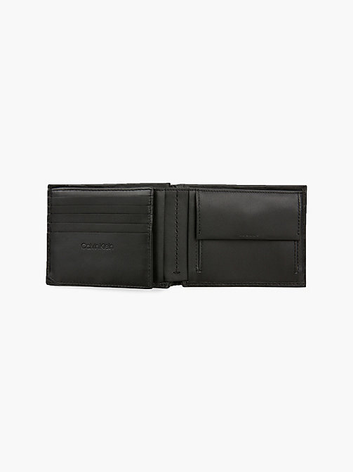 CALVIN KLEIN Leather Plaque Wallet - BLACK - CALVIN KLEIN WALLETS & SMALL ACCESSORIES - detail image 1