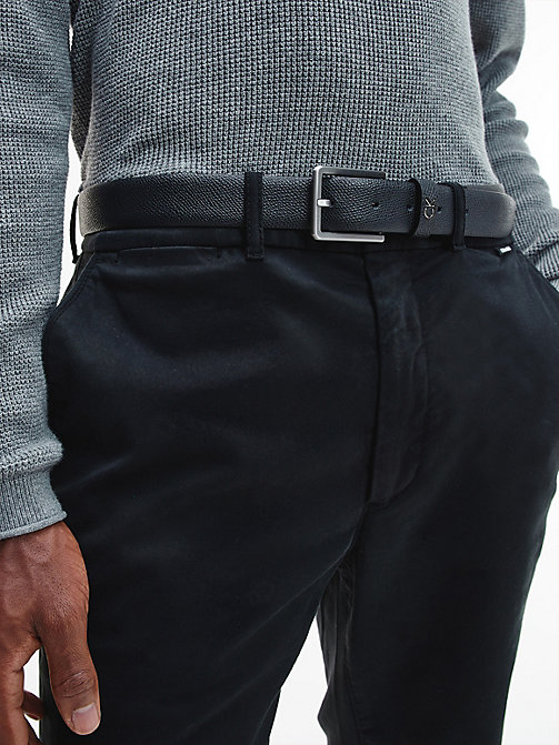 CALVINKLEIN Palmellato Leather Belt - BLACK - CALVIN KLEIN BELTS - detail image 1