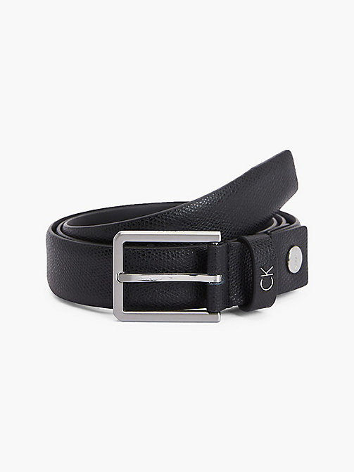CALVIN KLEIN Palmellato Leather Belt - BLACK - CALVIN KLEIN BELTS - main image