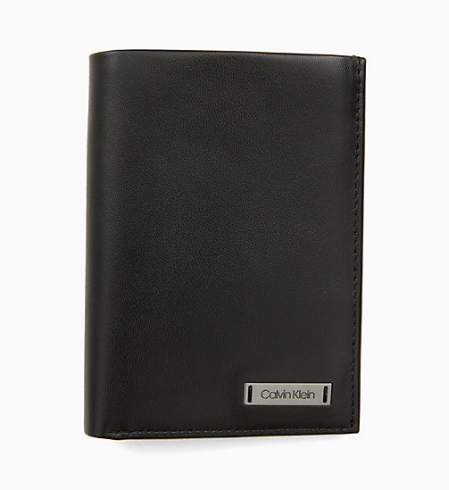 CALVIN KLEIN Leather Plaque Wallet - BLACK - CALVIN KLEIN WALLETS & SMALL ACCESSORIES - main image