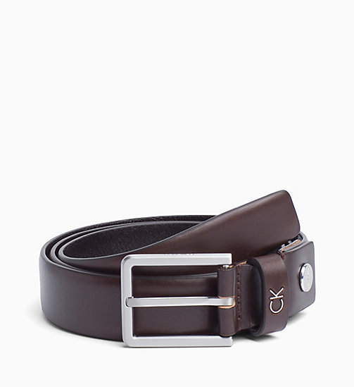 CALVINKLEIN Leather Belt - TURKISH COFFE - CALVIN KLEIN BELTS - main image