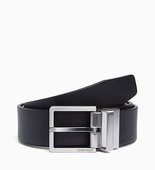 CALVIN KLEIN Leather Belt - BLACK/BROWN - CALVIN KLEIN BELTS - main image