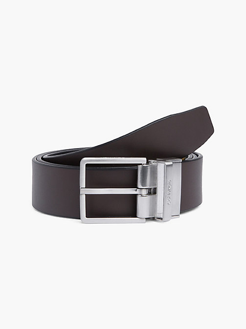 CALVIN KLEIN FORMAL REV.ADJ. BELT 3.5CM - BLACK/BROWN - CALVIN KLEIN BELTS - detail image 1