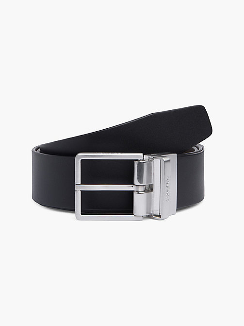 CALVIN KLEIN FORMAL REV.ADJ. BELT 3.5CM - BLACK/BROWN - CALVIN KLEIN BELTS - main image