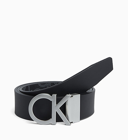 CALVINKLEIN Reversible Monogram Belt - BLACK - CALVIN KLEIN BELTS - detail image 1