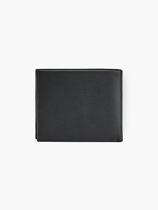 CALVIN KLEIN Leather Slim-Fold Plaque Wallet - BLACK - CALVIN KLEIN WALLETS & SMALL ACCESSORIES - detail image 1