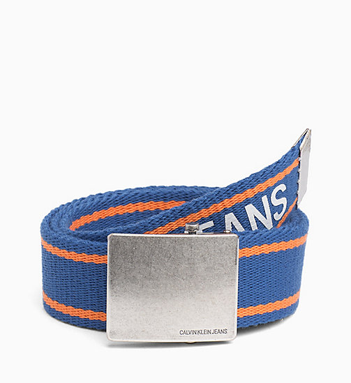 CALVIN KLEIN JEANS Webbing Belt - NAUTICAL BLUE - CALVIN KLEIN JEANS BELTS - main image