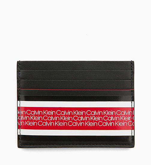 CALVINKLEIN Leather Cardholder - BLACK - CALVIN KLEIN WALLETS & SMALL ACCESSORIES - main image