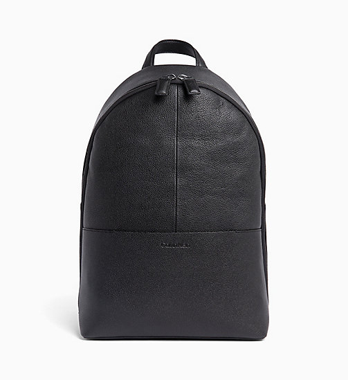 CALVIN KLEIN Leather Backpack - BLACK - CALVIN KLEIN VALENTINES - main image