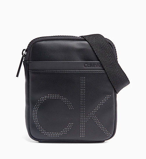 CALVIN KLEIN Mini Flat Cross Body Bag - BLACK - CALVIN KLEIN VALENTINES - main image