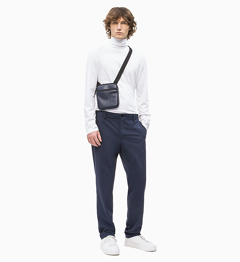 CALVIN KLEIN Mini Flat Cross Body Bag - BLACK - CALVIN KLEIN MEN - detail image 3