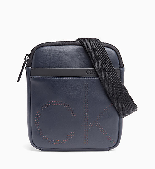 CALVIN KLEIN Mini Flat Cross Body Bag - NAVY - CALVIN KLEIN NEW IN - main image