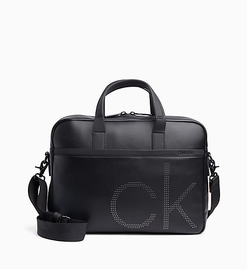 CALVIN KLEIN Slim Laptop Bag - BLACK - CALVIN KLEIN NEW IN - main image