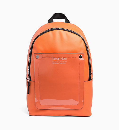 CALVIN KLEIN Round Backpack - ORANGE PEEL - CALVIN KLEIN VALENTINES - main image
