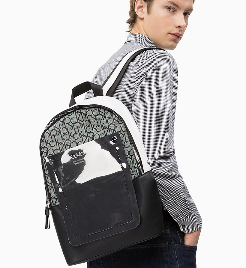 CALVIN KLEIN Round Backpack - EMRALD/WHITE - CALVIN KLEIN MEN - detail image 3
