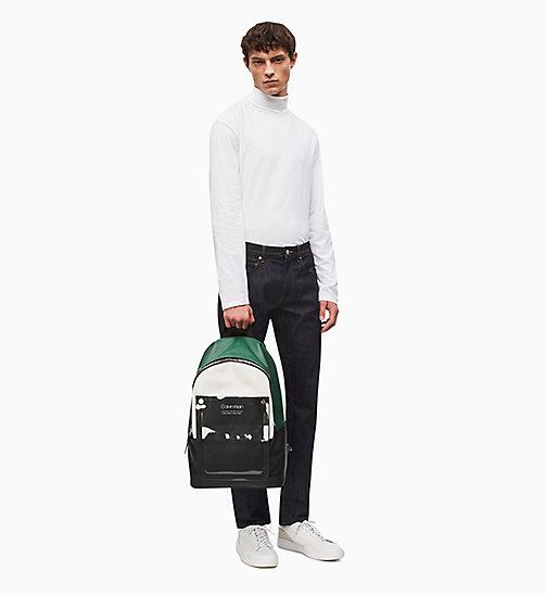CALVIN KLEIN Round Backpack - EMRALD/WHITE - CALVIN KLEIN NEW IN - detail image 1