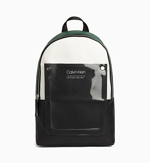 CALVIN KLEIN Round Backpack - EMRALD/WHITE - CALVIN KLEIN NEW IN - main image