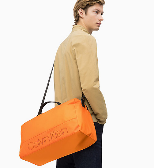 CALVIN KLEIN Duffle Bag - ORANGE PEEL - CALVIN KLEIN NEW IN - detail image 1