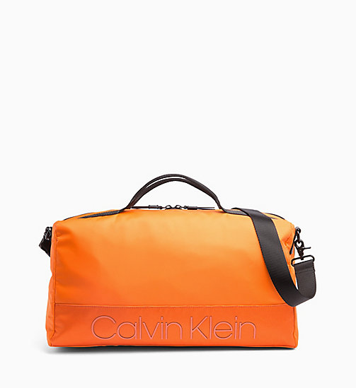 CALVIN KLEIN Duffle Bag - ORANGE PEEL - CALVIN KLEIN NEW IN - main image