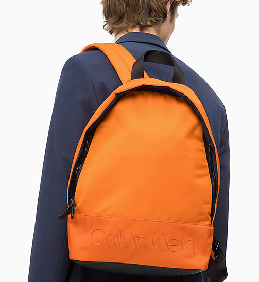 CALVIN KLEIN Runder Rucksack - ORANGE PEEL - CALVIN KLEIN NEW IN - main image 1