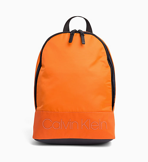 CALVIN KLEIN Round Backpack - ORANGE PEEL - CALVIN KLEIN NEW IN - main image