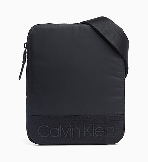 CALVIN KLEIN Flat Cross Body Bag - BLACK - CALVIN KLEIN NEW IN - main image