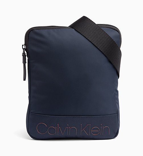 CALVIN KLEIN Flat Cross Body Bag - NAVY - CALVIN KLEIN NEW IN - main image