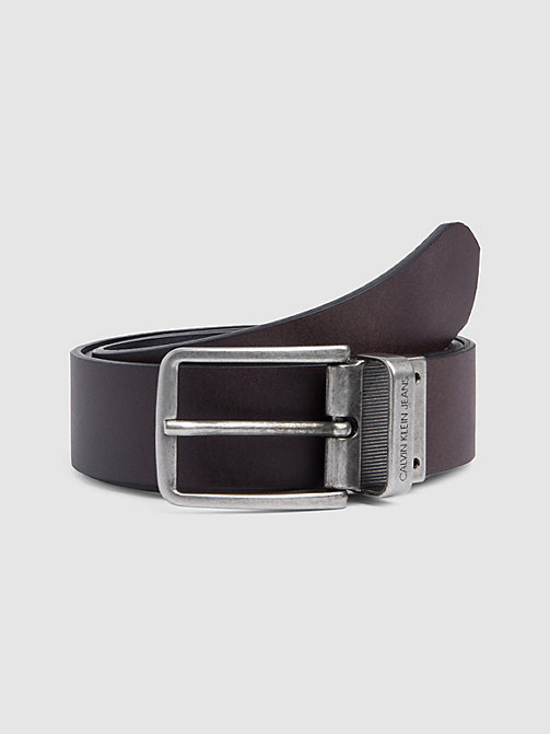 CALVIN KLEIN JEANS Reversible Leather Belt - BLACK/D.BROWN - CALVIN KLEIN JEANS BELTS - detail image 1