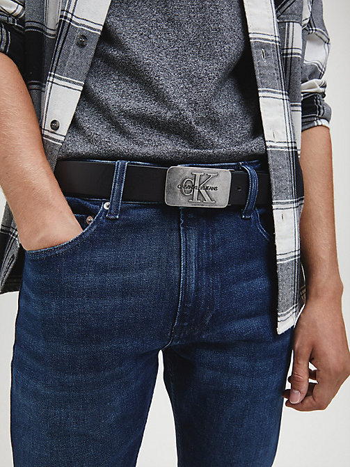 CALVIN KLEIN JEANS Leather Belt Gift Box - BLACK/D.BROWN - CALVIN KLEIN JEANS BELTS - detail image 1