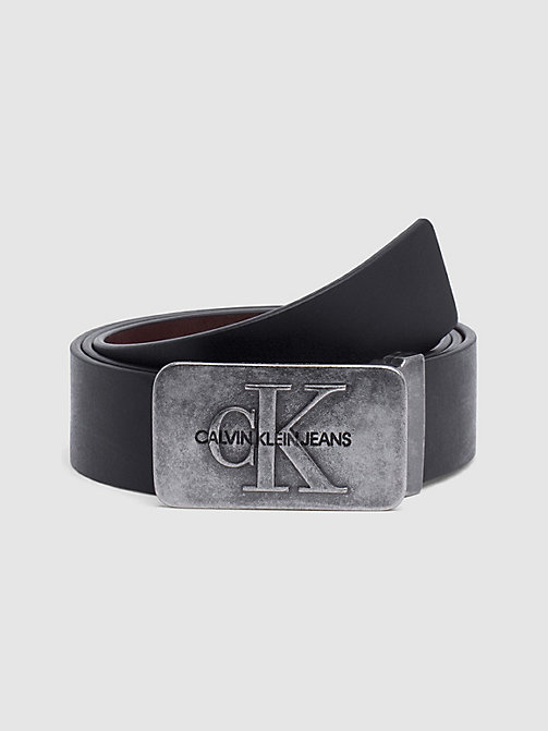 CALVIN KLEIN JEANS Leather Belt Gift Box - BLACK/D.BROWN - CALVIN KLEIN JEANS BELTS - main image