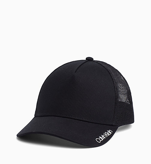 CALVIN KLEIN Cotton Twill Trucker Cap - BLACK - CALVIN KLEIN NEW IN - detail image 1