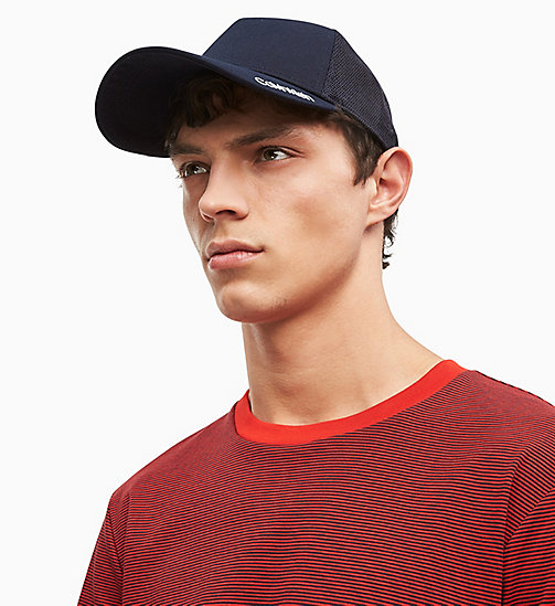 CALVIN KLEIN Cotton Twill Trucker Cap - NAVY - CALVIN KLEIN NEW IN - main image
