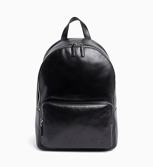 CALVIN KLEIN Leather Round Backpack - BLACK - CALVIN KLEIN VALENTINES - main image