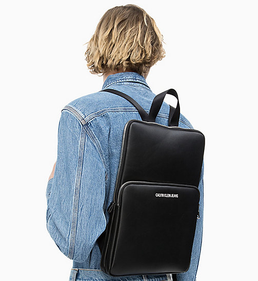 CALVIN KLEIN JEANS Flat Backpack - BLACK - CALVIN KLEIN JEANS NEW IN - detail image 1