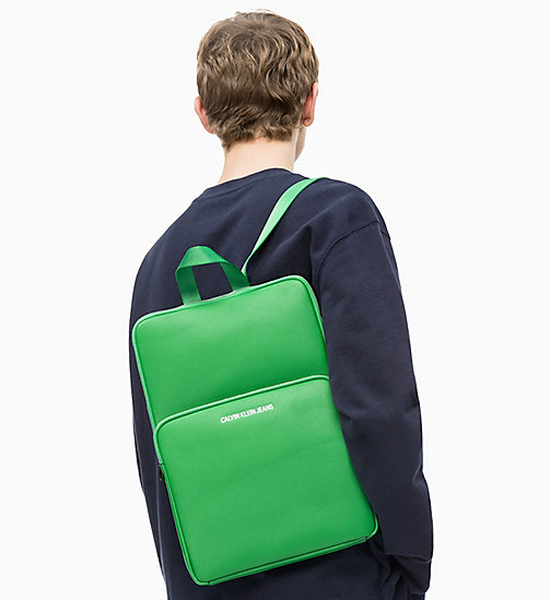CALVIN KLEIN JEANS Flat Backpack - FERN GREEN - CALVIN KLEIN JEANS NEW IN - detail image 1