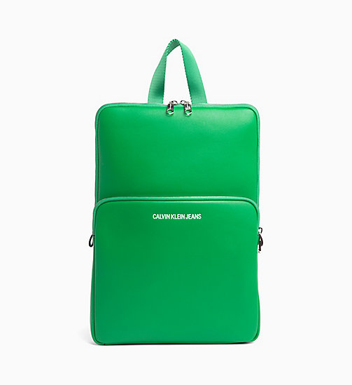 CALVIN KLEIN JEANS Flat Backpack - FERN GREEN - CALVIN KLEIN JEANS NEW IN - main image
