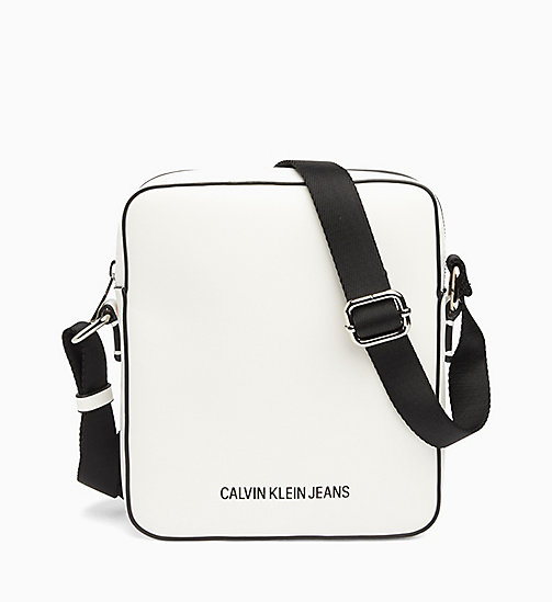 CALVIN KLEIN JEANS Micro Flat Cross Body Bag - BRIGHT WHITE - CALVIN KLEIN JEANS NEW IN - main image