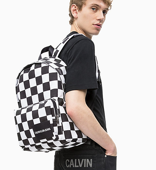 CALVIN KLEIN JEANS Round Backpack - CHECKERED PRINT - CALVIN KLEIN JEANS #MYCALVINS - detail image 1