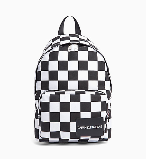 CALVIN KLEIN JEANS Round Backpack - CHECKERED PRINT - CALVIN KLEIN JEANS #MYCALVINS - main image