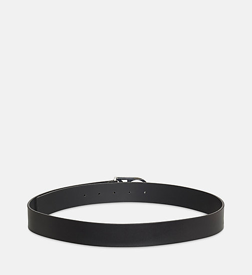 CALVIN KLEIN Leather Logo Belt - BLACK - CALVIN KLEIN BELTS - detail image 1