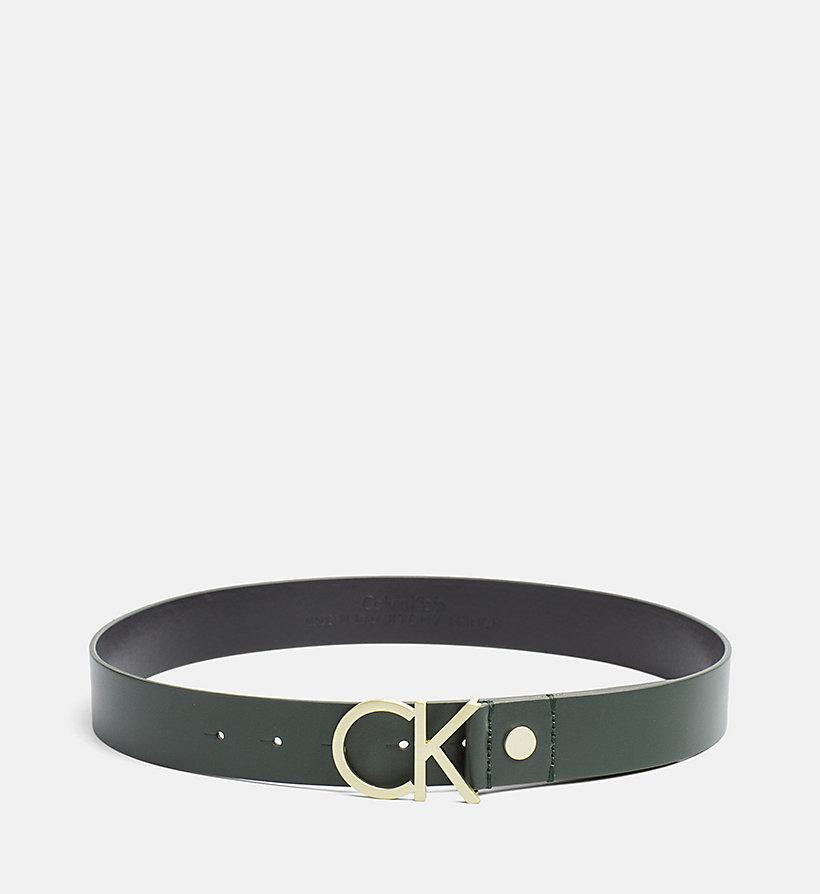 ceinture en cuir avec logo calvin klein k60k602141. Black Bedroom Furniture Sets. Home Design Ideas
