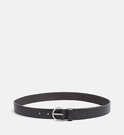 CALVINKLEIN Leather Logo Belt - BLACK - CALVIN KLEIN SHOES & ACCESORIES - main image