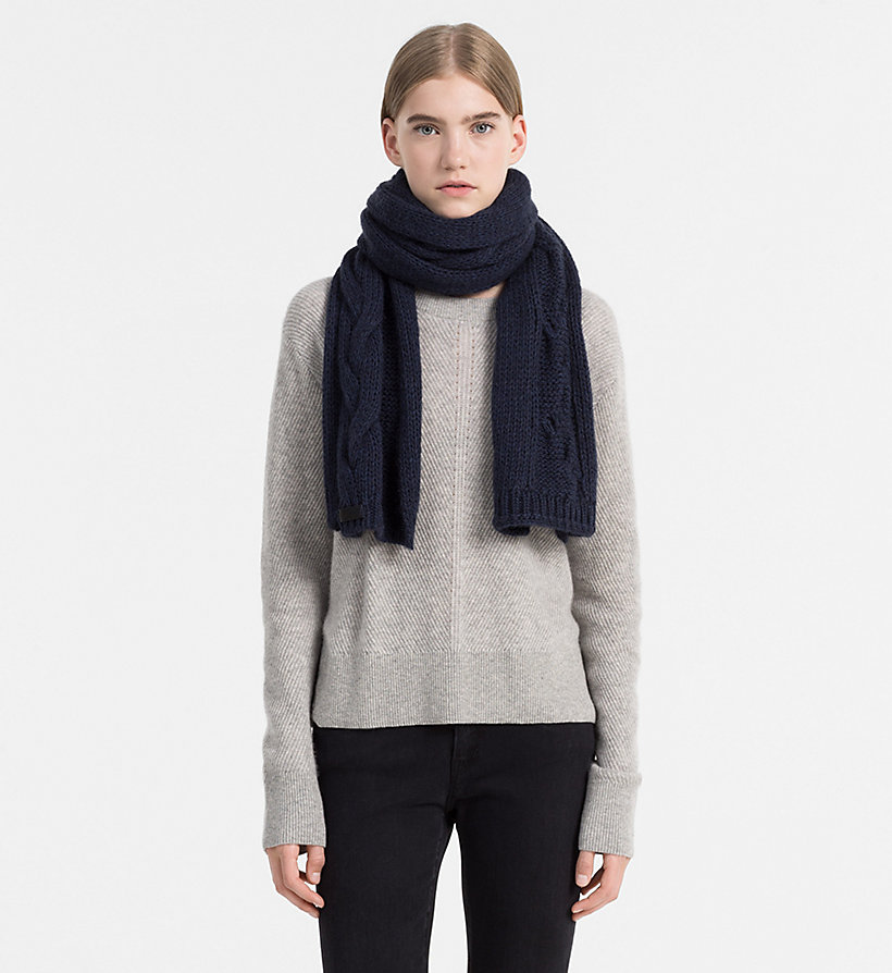 CALVINKLEIN Cable Scarf - STEEL GREY MIX - CALVIN KLEIN WOMEN - detail image 1