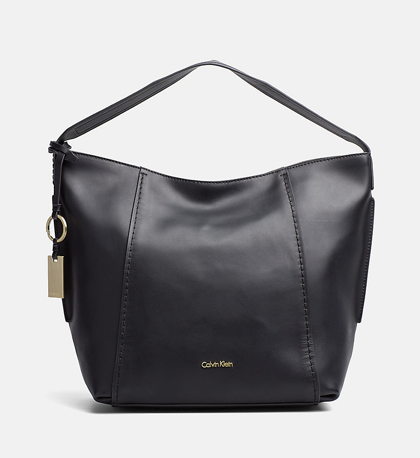 CALVINKLEIN Leather Hobo - MUSHROOM - CALVIN KLEIN WOMEN - main image