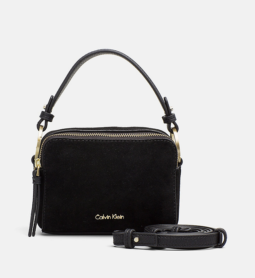 CALVINKLEIN Small Suede Crossover Clutch - UNINHIBITED / DUSTED IVORY - CALVIN KLEIN WOMEN - main image