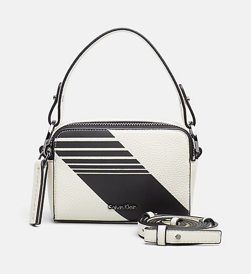 CALVINKLEIN Small Stripe Crossover - DUSTED IVORY/BLACK - CALVIN KLEIN SHOES & ACCESORIES - main image