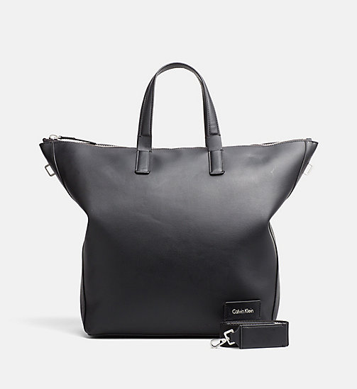 CALVINKLEIN Large Tote Bag - BLACK - CALVIN KLEIN SHOES & ACCESORIES - main image