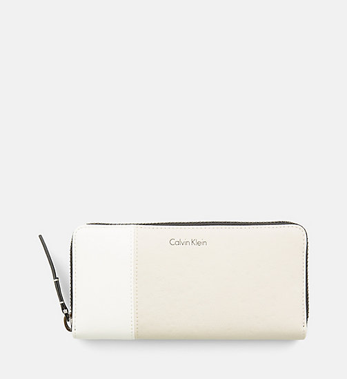 CALVINKLEIN Large Zip-Around Wallet - CEMENT - CALVIN KLEIN SHOES & ACCESSORIES - main image