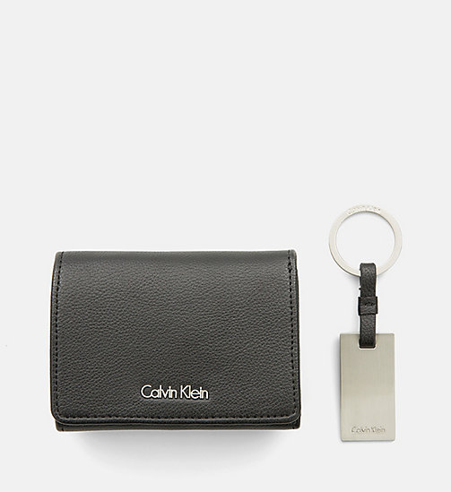 CALVINKLEIN Small Wallet and Keyring Giftbox - BLACK - CALVIN KLEIN SHOES & ACCESSORIES - detail image 1